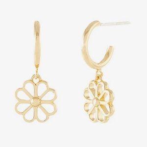 $58 Kate Spade Spade Floral Huggie Earrings